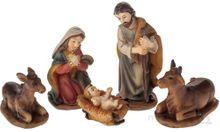 Krippenfiguren 5-tlg. Weihnachtskrippen Figuren Set bunt 1,5-5 cm