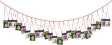 Adventskalender Girlande bunte Textilbeutel Taschen & Nummern 1-24 Länge 300 cm