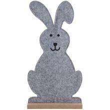 Filzdeko Osterhase Hase auf Holzständer Osterdeko Frühlingsdeko Figur 1 Stk 50 cm