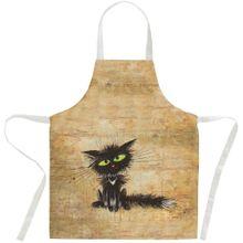 Schürze Küchenschürze Latzschürze Katze nach Steckdose Einheitsgröße 80x70 cm