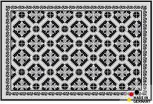 Fußmatte Fußabstreifer ESSENCE Kacheln Retro schwarz weiß 40x60x0,5cm waschbar