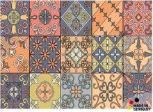 Fußmatte Abstreifer Schmutzfangmatte Fliesen Marokkanisch bunt 50x70 cm waschbar