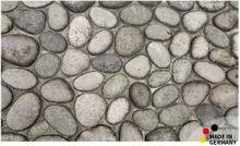 Fußmatte Abstreifer Schmutzfangmatte Steine grau / Kieselsteine 65x110 cm waschbar