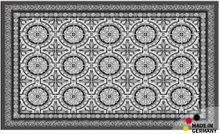 Fußmatte Abstreifer Schmutzfangmatte Orient Fliesen schwarz 65x110 cm waschbar