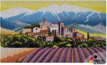 Fußmatte Abstreifer Schmutzfangmatte Provence Lavendel & Berge 65x110 cm waschbar