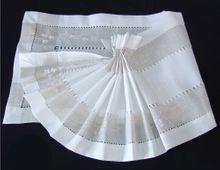 Tischläufer Tischwäsche Blumen Stickerei & Hohlsaum weiß / beige 35x180 cm