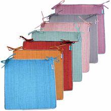 Outdoor Sitzkissen Stuhlkissen für Garten wetterfest – 7 Farben – 42x42x4,5 cm