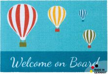 Fußmatte Fußabstreifer ESSENCE Welcome on Board & Ballon 40x60x0,5cm waschbar