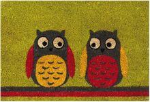 Fußmatte Kokosmatte Kokos EULEN bunt 40x60x1,5 cm Rückseite rutschfest