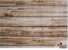 Fußmatte Abstreifer Schmutzfangmatte Motiv Dielen Holz natur 50x70 cm waschbar