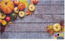 Fußmatte Abstreifer Schmutzfangmatte Motiv Herbst Kürbisse 65x110 cm waschbar