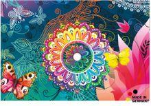 Fußmatte Fußabstreifer ESSENCE Mandala & Schmetterling 40x60x0,5 cm waschbar