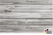 Fußmatte Fußabstreifer FLAT Motiv Dielen Holz grau 50x80 cm Textil waschbar