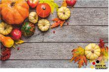 Fußmatte Fußabstreifer FLAT Motiv Herbst Kürbisse 50x80 cm Textil waschbar