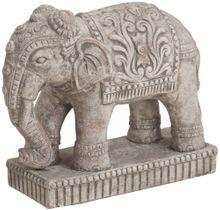 Elefant Dekofigur indische Skulptur Keramik Gartendeko 1 Stk 27x11x23 cm