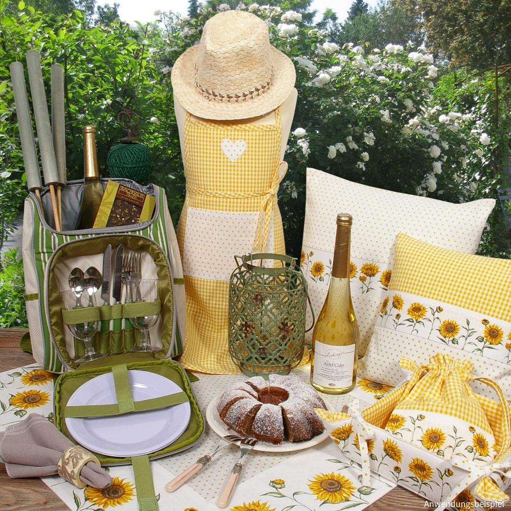 Heimtextilien Serie EVA gelb & Sonnenblumen Landhaus