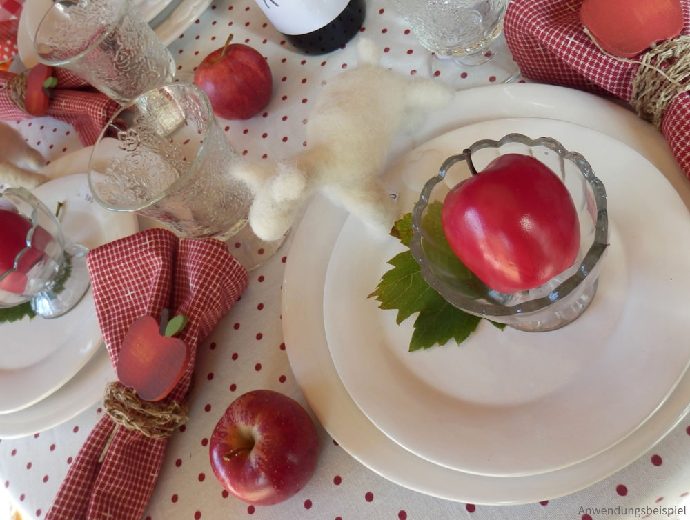Heimtextilien Serie ROSI rot grau weiß & Herzen Landhaus
