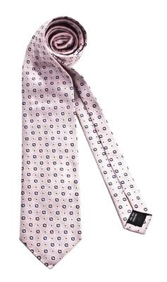 Gianfranco Ferre Silk Tie Pink Blue dotted relief 842