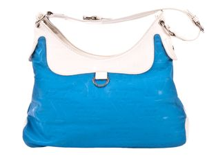 Enrico Coveri Schultertasche blau/weiß YY8385BL/WH