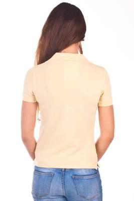 La Martina Poloshirt kurzarm - kleien beige Reiter Gelb R78