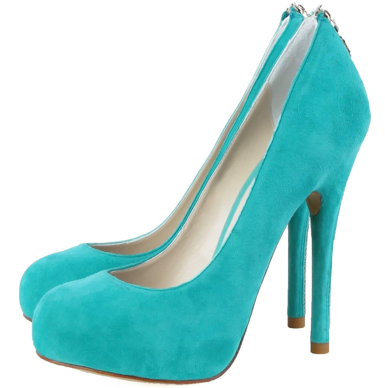 Janiko High-Heels Classics Pumps Tabu Aqua blau