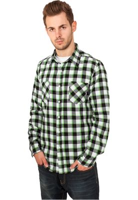 Urban Classics Herren Tricolor Checked Light Flanell Shirt TB411