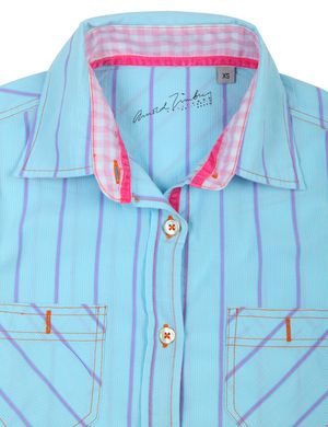 Arnold Zimbuy Leisure Long Sleeve Shirt Light Blue-Purple AZ4800-2001