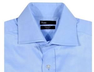Yves Shirt long sleeves light blue 10042551-Hellblau