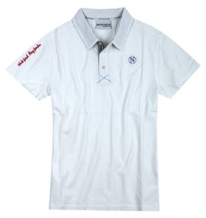 macron Men Polo Shirt short sleeves cream RSHP006