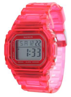 Madison New York Armbanduhr Candy Jelly LCD Pink U4241F
