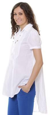 Cocogio Damen Bluse Weiß C53-WHITE