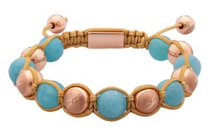 Twelve Thirteen Limited Edition designed by Samuel Sohebi Bracelet Edelsteine beige Casual quartz sponge blue faceted BR903