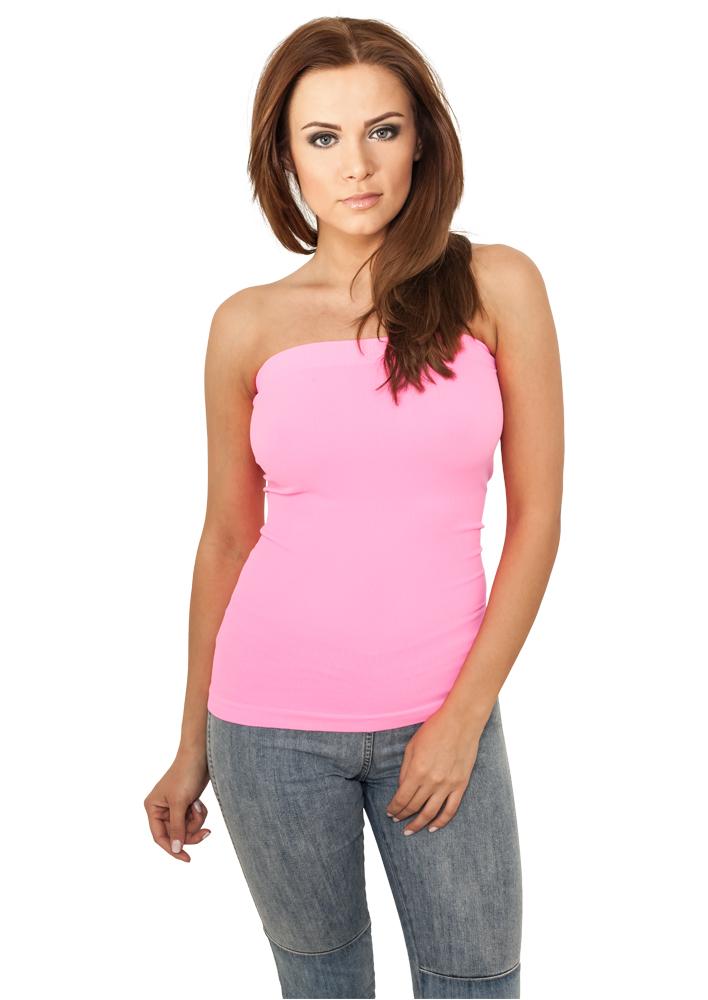 Urban Classic Damen T Shirts Ladies Neon Strapless Top Tb687 Kademo