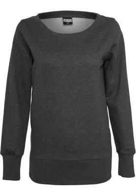 Urban Classic Damen Pullover Ladies Side Zip Long Crewneck TB784