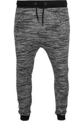 Urban Classic Herren blk/gry Fitted Terry Melange Sweatpants TB840