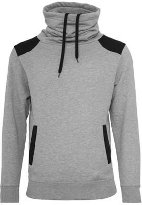 Urban Classic Herren Pullover Contrast Shoulder High Neck TB842