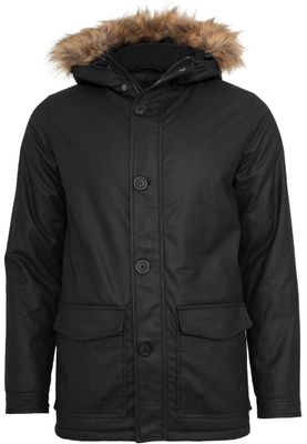 Urban Classic Herren black Coated Nylon Parka TB896