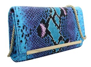 J. by Janiko Women Clutch DIYA Women Blue snake print JB1132