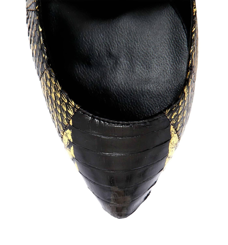Janiko Women High Heels MARABOU Women Black/Gold JK501