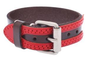 1St. Bulily Armband Dunkelbraun/Rot NN-1030-DBR size