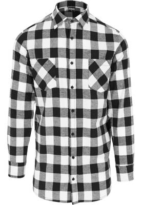 Urband Classics Men Long Checked Flanell Shirt TB1000
