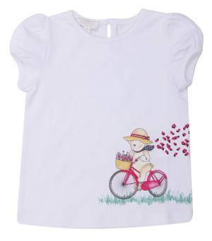 GUCCI Mädchen T-Shirt Weiß 337769-9048