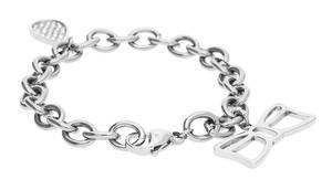 Morellato Damen Charm-Armband Edelstahl Silber Fiocco SYS05