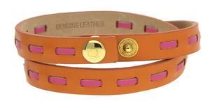 Guess Damen Wickelarmband Leder Orange/Pink UBB21309