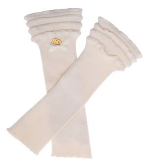 Blumarine Miss Blumarine Kids Arm sleeves cream 337AB18-09222