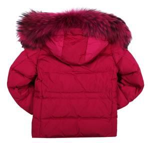 MANUDIECI Mädchen Kapuzen Winterjacke Pink 060MT-N056