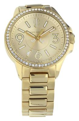 Juicy Couture Damen Armbanduhr Jetsetter gold 1900959