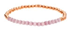 Esprit Damen Armband Edelstahl Rosegold/lila Spheres ESBR11641E165