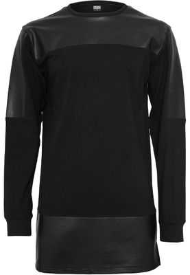 Urban Classics Mens Sweatshirts Leather Imitation Block Longsleeve TB981