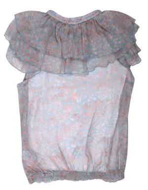Blumarine Miss Blumarine Girls Summer blouse Light Blue 345CM59-00204